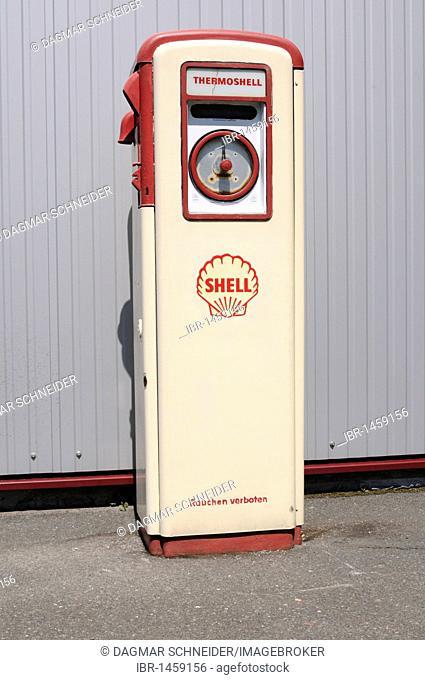 Vintage petrol pump, Germany, Europe