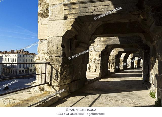 The Arena of Nîmes is a Roman amphitheatre built around AD 70