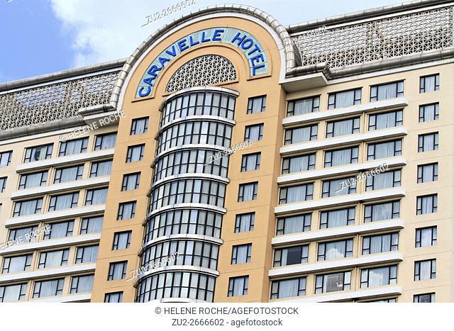 Caravelle hotel façade, Saigon, Vietnam, Asia