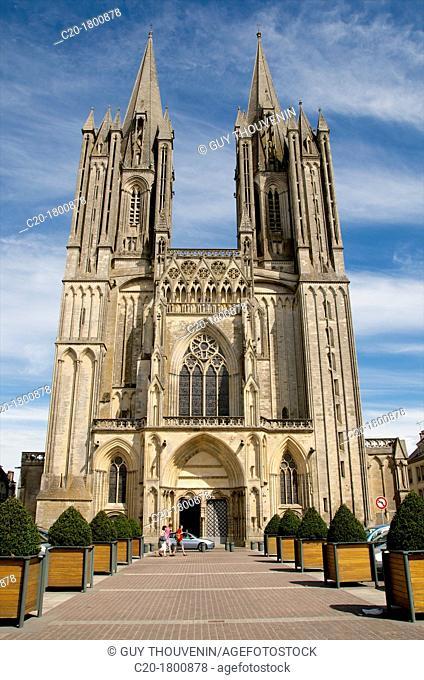 Notre Dame cathedral 14th c Coutances, Cotentin, Normandy, France , Manche, 50