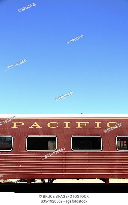 A historical passenger car in McCormick-Stillman Railroad Park  Scottsdale  Arizona  USA