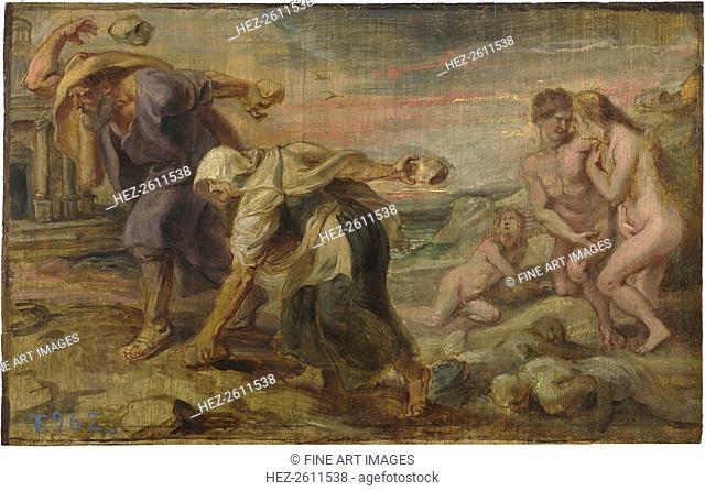 Deucalion and Pyrrha, ca 1636. Artist: Rubens, Pieter Paul (1577-1640)