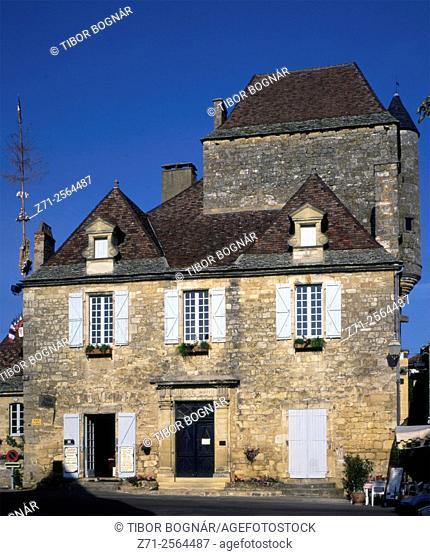 France, Périgord, Domme, Maison des Gouverneurs,