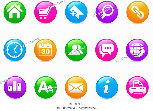 Web Site & Internet Icons // Rainbow Series