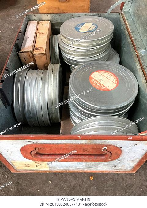Several thousand kilometres of audiovisual materials from political show trials from 1952 were found in a disused plant in Panenske Brezany, central Bohemia
