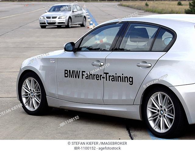BMW driver safety training in a BMW 3, Templin, Brandenburg, Germany, Europe