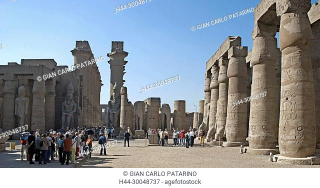 Luxor, Egypt. Temple of Luxor (Ipet resyt): the first courtyard