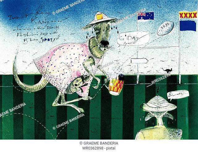 Collage Kangaroo