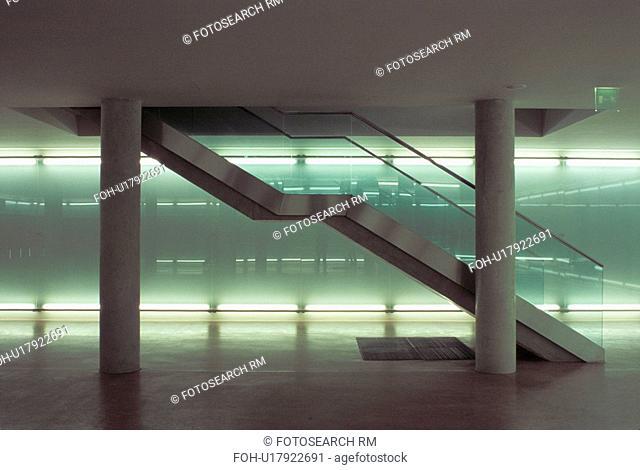 stairs green light wien vienna austria kuenste