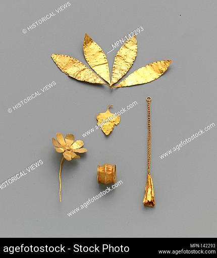 Gold leaf. Period: Early Minoan II-III; Date: ca. 2300-2100 B.C; Culture: Minoan; Medium: Gold; Dimensions: Other: 1 15/16 in