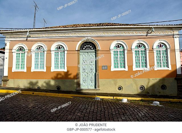 Imperial House also known as House of the Flower of Lis where the Imperial family was hosted in 1884 in the Dom Pedro Square, Itu, São Paulo, Brazil, 01