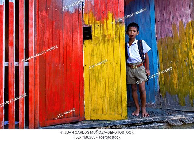 Local people  Panyee fishing village  Phang Nga Bay, Andaman Sea, Thailand, Asia