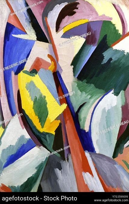 Explosion lyrique no 8, 1918, Alberto Magnelli, Georges Pompidou museum Paris France