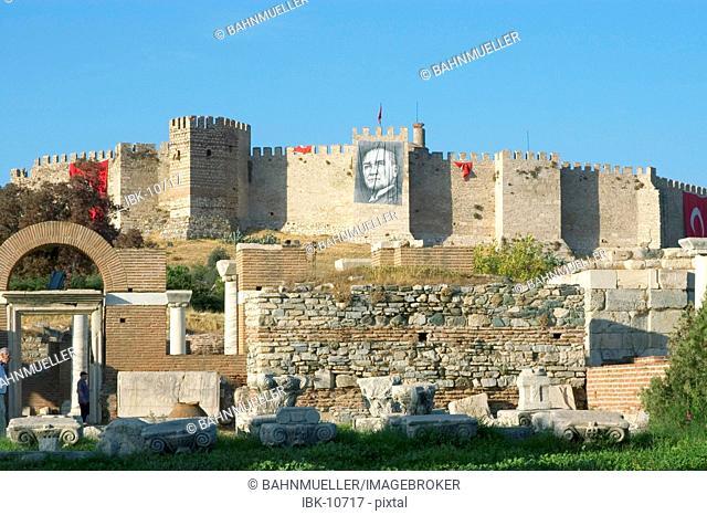 Turkey Selcuk near Ephesus citadel and church of S. John Johannes on the Ayasoluk hill