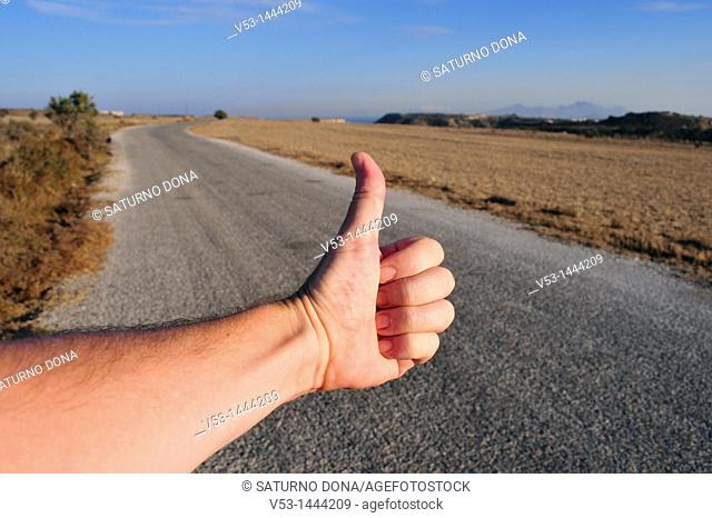 hitchhiker's arm - Crete - Greece