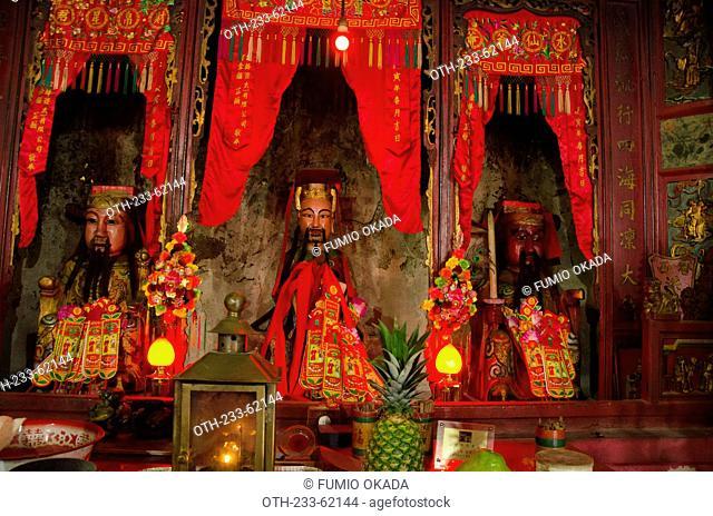Shrine of Hung Shing Ye Temple, NESCO Asia-Pacific heritage on Kau Sai Chau, off Sai Kung, Hong Kong