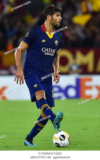 Roma football player Fedrico Fazio during the match Roma-Istanbul Basaksehir at the Olimpic stadium Rome (Italy), September 20th, 2019