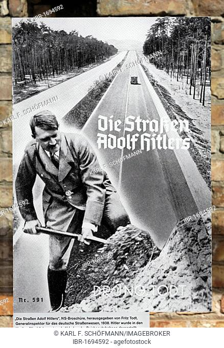 The streets of Adolf Hitler, Nazi pamphlet, Topography of Terror, Berlin, Germany, Europe