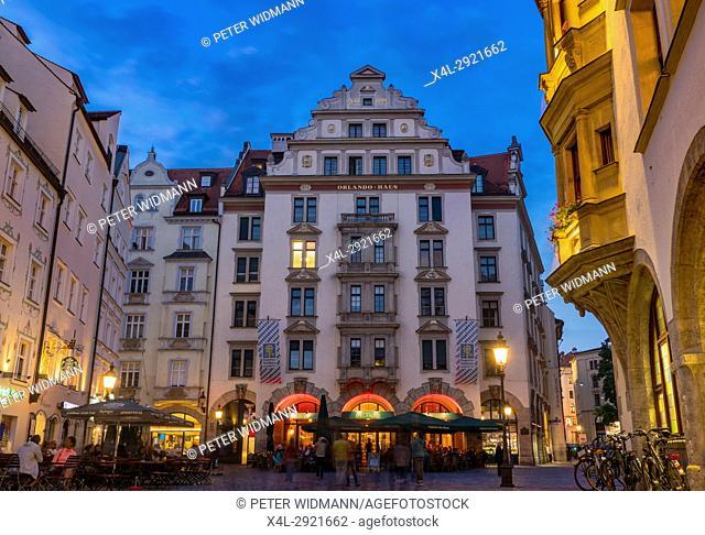 Orlando-Haus am Platzl, historic centre, Munich, Upper Bavaria, Bavaria, Germany, Europe