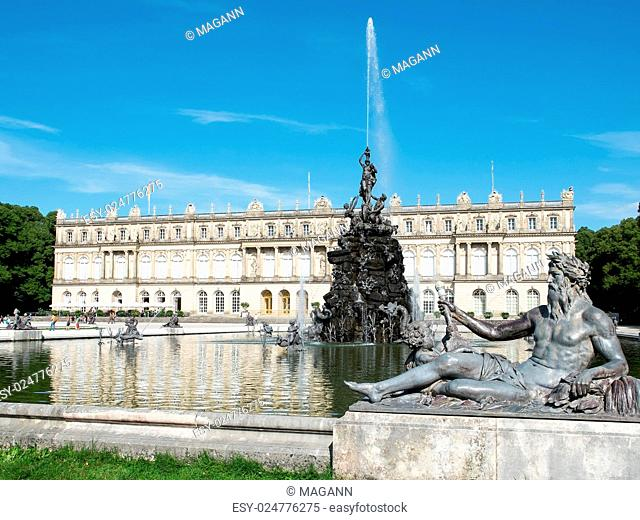 An image of a nice fountain at Herrenchiemsee