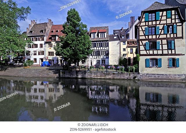 Frankreich, Elsass, Strassburg, La Petite France, L'Ill, Häuser