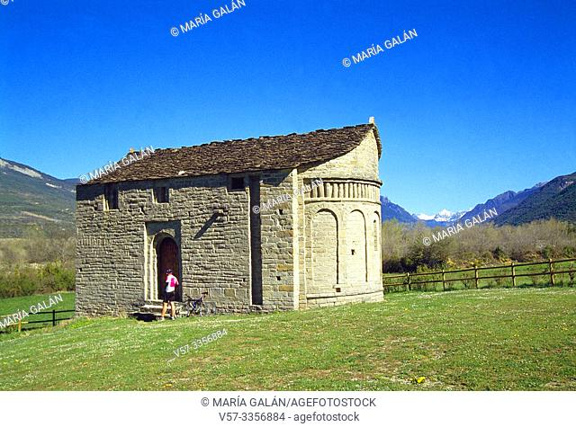 San Juan de Busa church. Olivan, Huesca province, Aragon, Spain