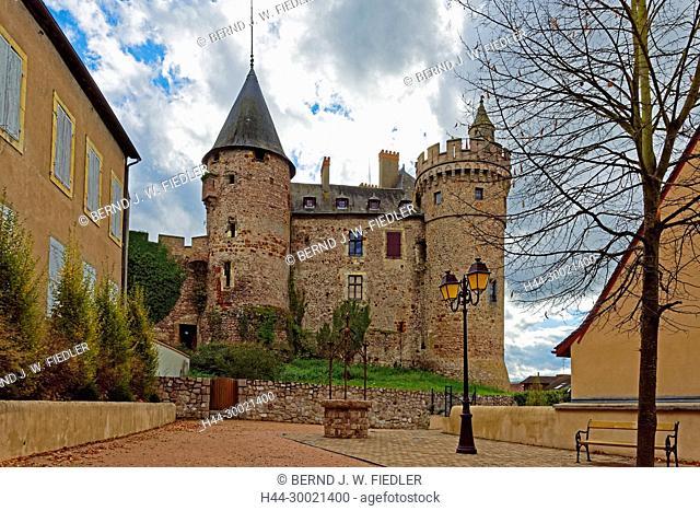 Château de La Palice , Lapalisse, Frankreich, France , Schloss