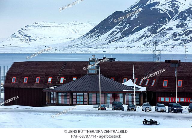 The University Centre in Svalbard (UNIS) is pictured in Longyearbyen on Spitsbergen island, Norway, 10 April 2015. The university centre