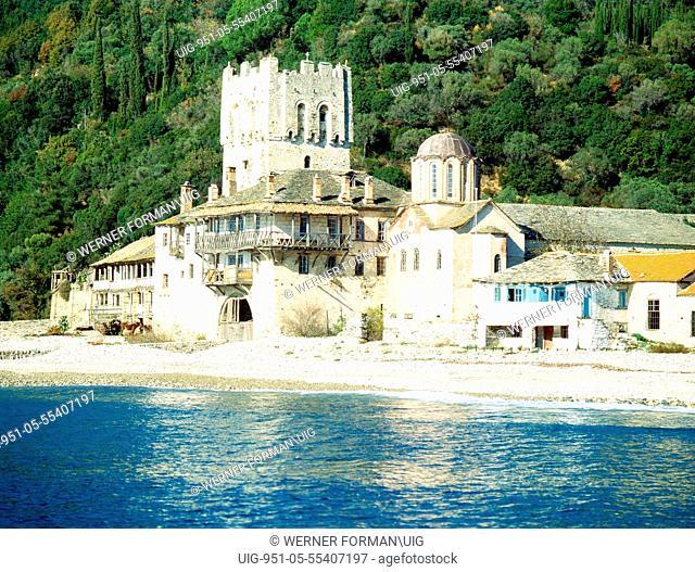 The port of Zagraphos, Mount Athos