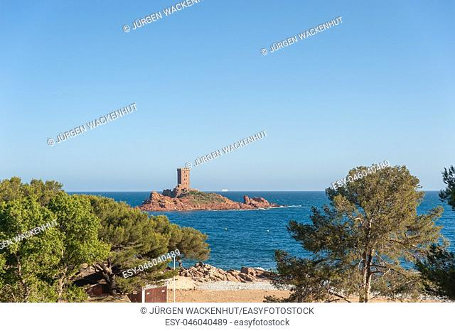 Ile d'Or island at Cape Dramont, Saint-Raphael, Var, Provence-Alpes-Cote d`Azur, France, Europe