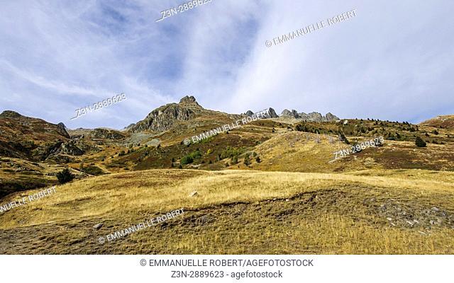 Landscapes and Mountains, Col Glandon, Savoie, Rhone Alpes Auvergne, France, Europe