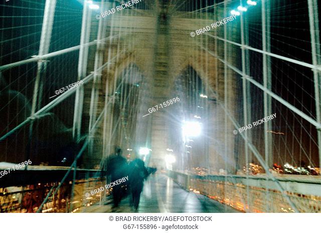 Brooklyn Bridge. New York City. USA