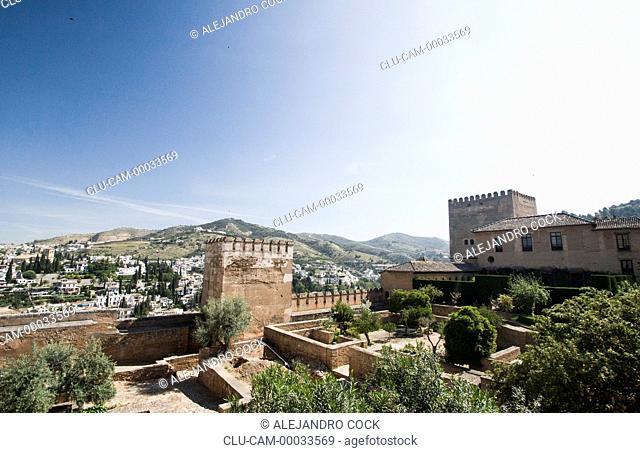 The Alcazaba, Granada, Andalusia, Spain, Europe