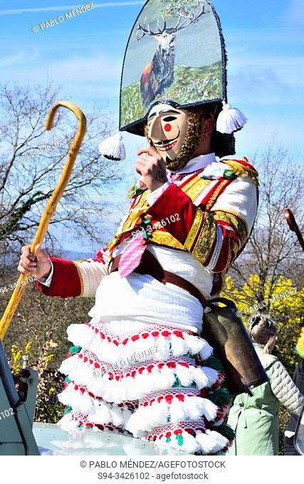 Felos. Winter masks of Maceda, carnival, Orense, Galicia, Spain