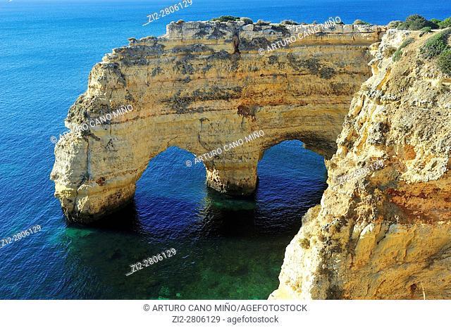 The Marinha beach. Lagos, Algarve region, Portugal
