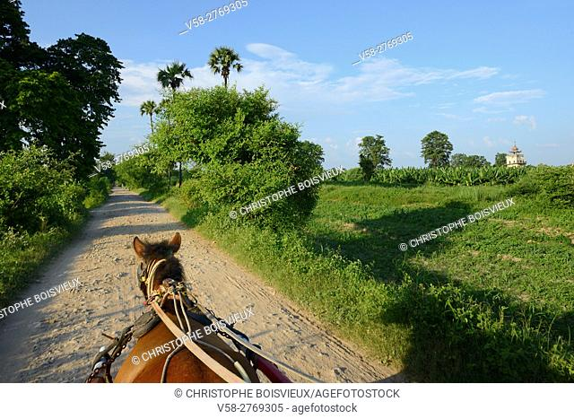 Myanmar, Mandalay surroundings, Inwa (Ava), Horse cart ride