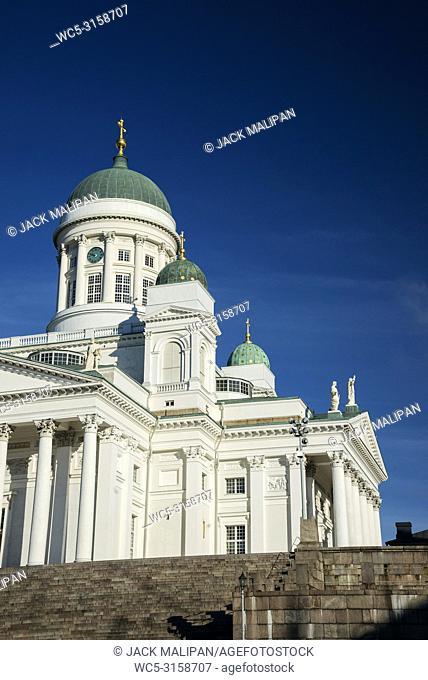 Helsinki city cathedral landmark in senate square finland