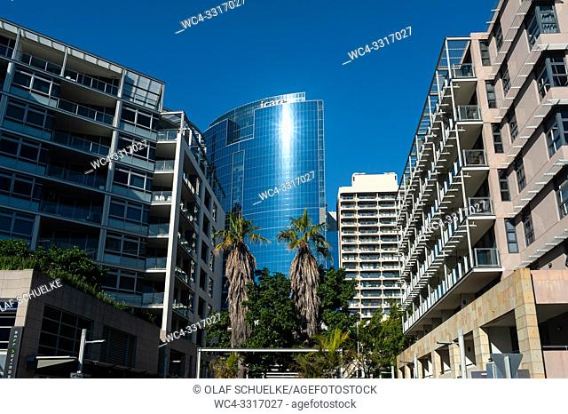 Sydney, New South Wales, Australia - Modern apartment buildings in Barangaroo near Darling Harbour