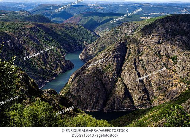 Sil river canyon. Orense province, Galicia, Spain