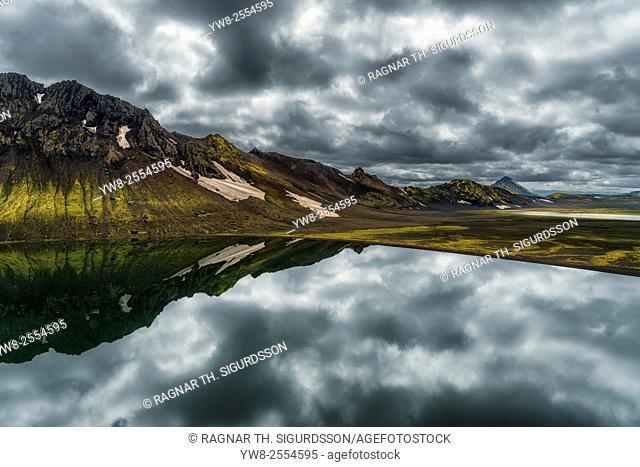 Lake Alftavatn, Central Highlands, Iceland