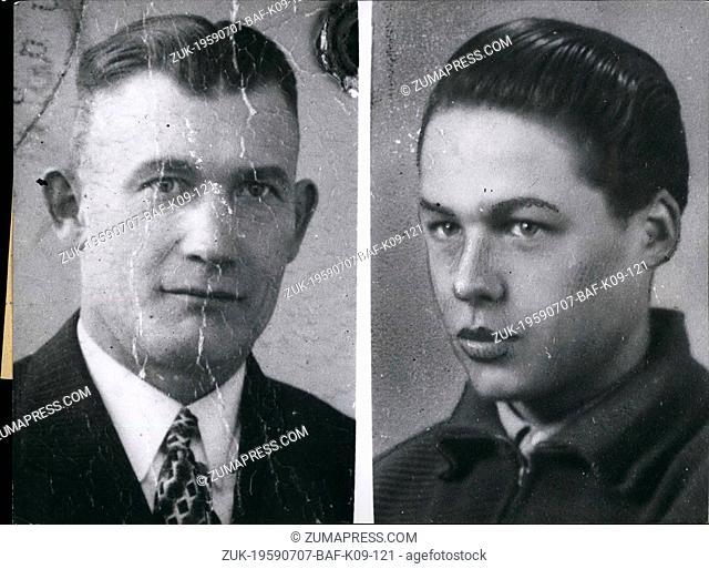Jul. 07, 1959 - Kidnapping in West-Berlin: A new victim of the East-German State Security Service, is electrician Karl Pawlik (KARL PAWLIK) of Berlin-Kreuzberg