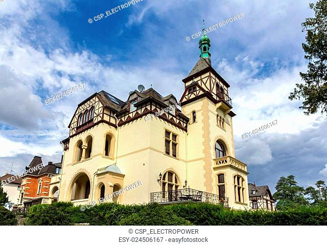 Classic german house in Koblenz, Germany