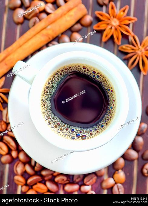 coffee and aroma spice