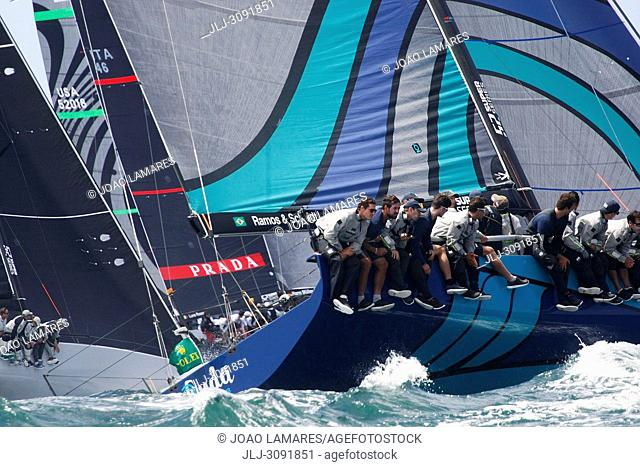 Onda, #17, Owner: Eduardo de Souza Ramos, Sail nr: BRA017, Yacht Club ICS, Builder: King Marine; Rolex TP 52 World Championship, TP52 Super Serires, Cascais
