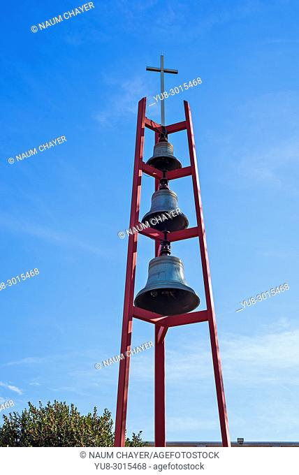 Church bell tower, Northeast Philadelphia, USA