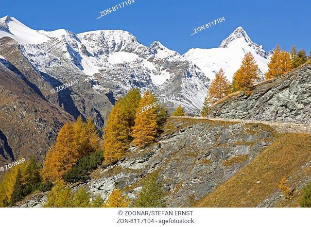 Großglockner, Hochalpenstraße, Nationalpark Hohe Tauern, Österreich, Europa / Großglockner High Alpine Road, High Tauern National Park, Austria, Europe