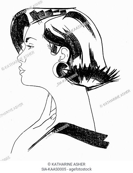 Side-view of young woman