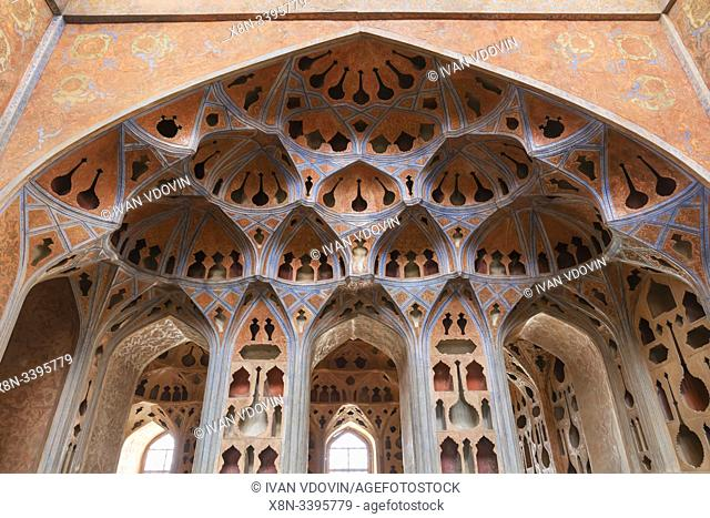 Music Hall, Ali Qapu palace, Isfahan, Isfahan Province, Iran