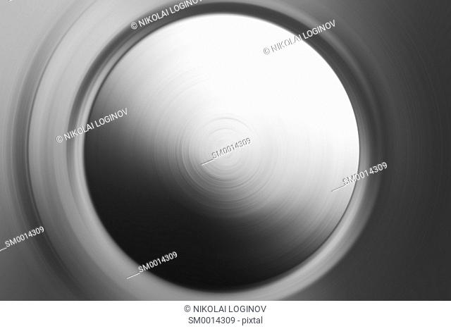 Horizontal black and white vinyl planet abstraction backdrop