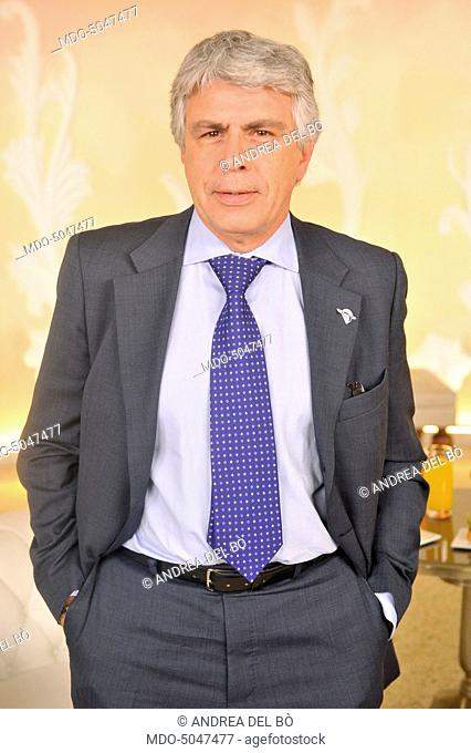 Italian neurologist Fabio Frediani posing for a photoshooting after the third episode of TV show In forma con Starbene. Milan (Italy), 10th November 2015
